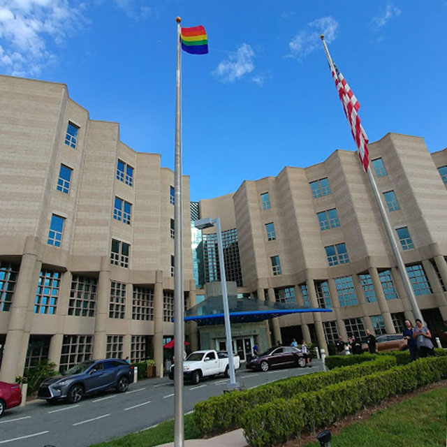 Pride flag at Moffitt
