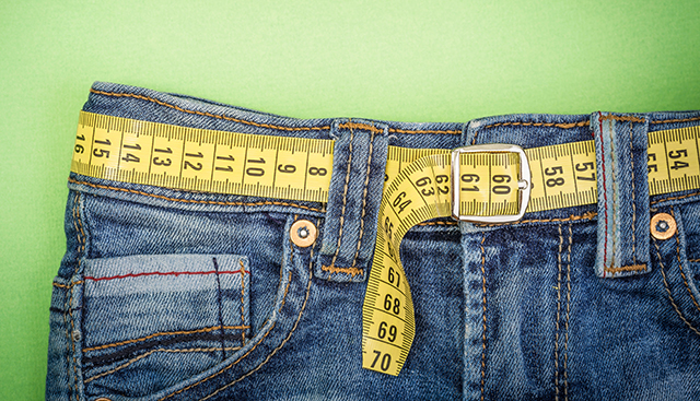 Jeans With Tape Measure