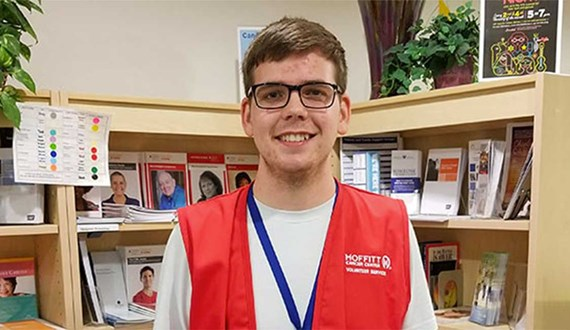 Five Questions with Moffitts Student Volunteer of the Year Mark Pemberton