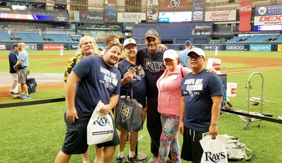 Rays Salute Lung Cancer Survivor at Tropicana Field