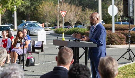 Moffitt Honors CAR T Patient during Veterans Day Ceremony