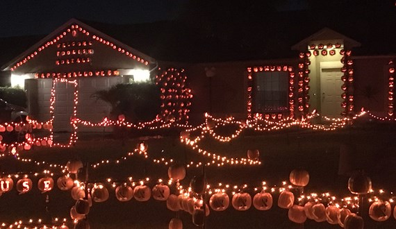 Great Pumpkin Fence Fights Cancer