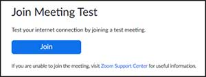 Join Meeting Test