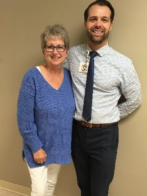 Dr. Ben Creelan with Sheri Pummill