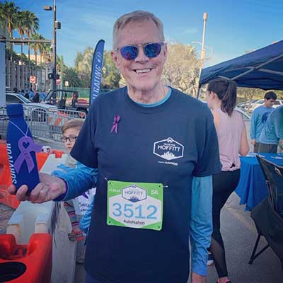 Moffitt patient David Ridell at the 2019 Miles for Moffitt event.
