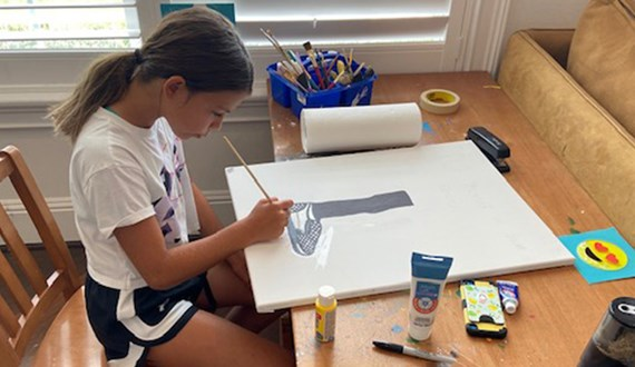 10 Year Old Paints for Racial Justice