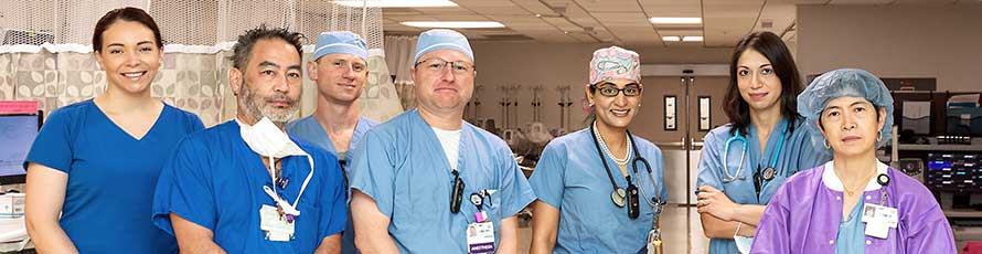 Anesthesia team members at Moffitt