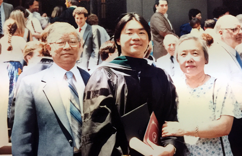 Dr. Hwu at his graduation from The Medical College of Pennsylvania (MCP) in 1987.