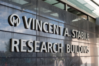 Vincent A. Stabile Research Building sign