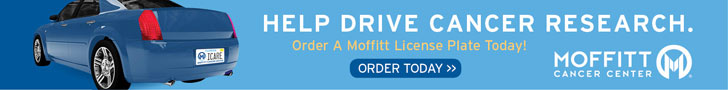 Help Drive Cancer Research. Order a Moffitt License plate  today.