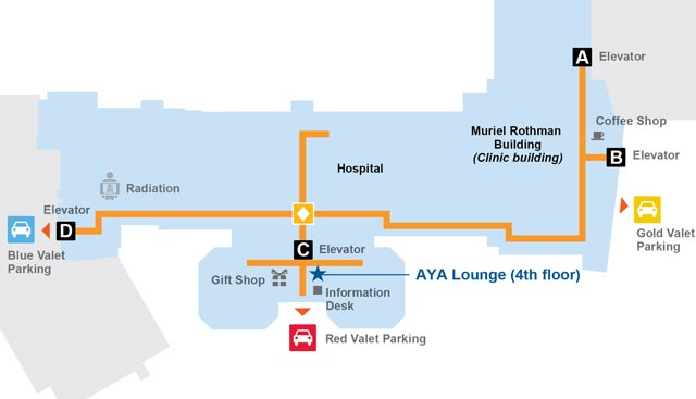 AYA Lounge map