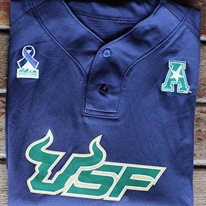 USF baseball jersey Moffitt Cancer Center