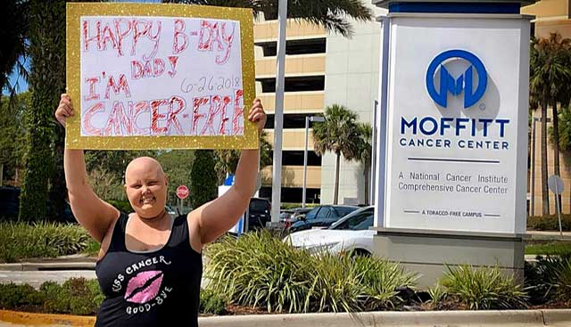 Best Birthday Gift Ever Daughter Tells Dad Shes Cancer Free