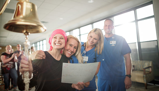 Ringing the bell after chemo